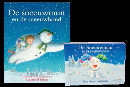 De sneeuwman en de Sneeuwhond Boek & Vingerpopboek