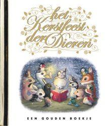 Het kerstfeest der dieren - luxe gouden boekje