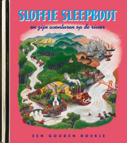 Sloffie Sleepboot en zijn avonturen op de rivier – luxe gouden boekje