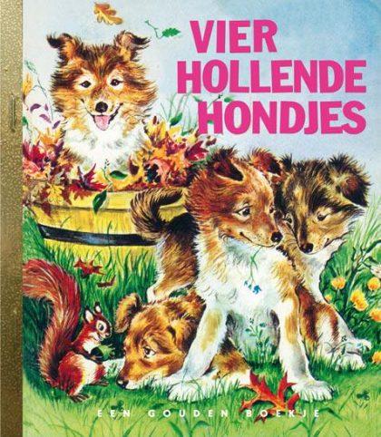 Vier hollende hondjes