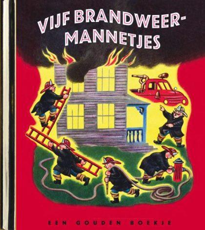 Vijf brandweermannetjes – luxe gouden boekje, original